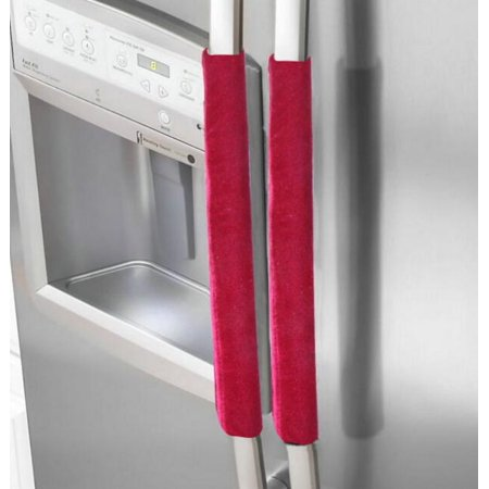 Oenbopo Refrigerator Door Handle Cover Kitchen Appliance Decor Handles Antiskid Protector Gloves for Fridge Oven Keep Your Kitchen Appliance Handle Clean