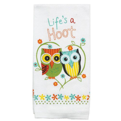 Kay Dee Designs Life's A Hoot Terry Kitchen Towel (Set of 6)