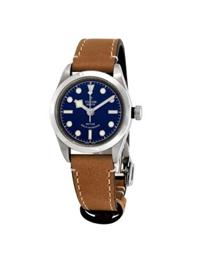 Tudor Black Bay Automatic 32 mm Blue Dial Ladies Aged Leather Watch M79580-0004