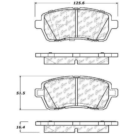 Go-Parts OE Replacement for 2013-2015 Suzuki Swift Front Disc Brake Pad Set  for Suzuki Swift (Sport)