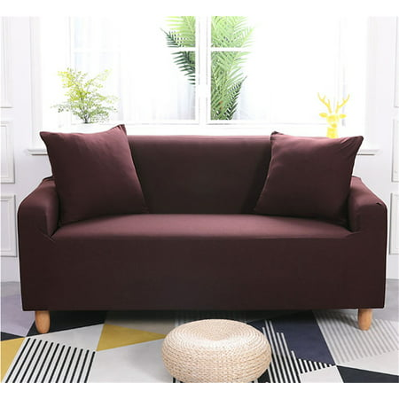 Stretch Sofa Slipcover,Furniture Cover / Slipcover, Fits T- Cushions, Sofa Furniture Cover Protector for 1/2/3/4 Seats ()