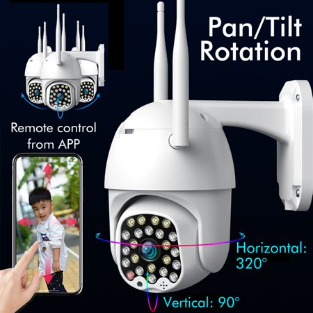 [23 LEDs] 5.0MP HD 2.4G WiFi Camera With Dual 5DB Antennas Outdoor IP Camera 1080P IP66 Waterproof Wireless 500W Pixel Color Night Version PTZ Two-Way Audio Motion Sensor For Home Security Surveillanc - image 6 of 13