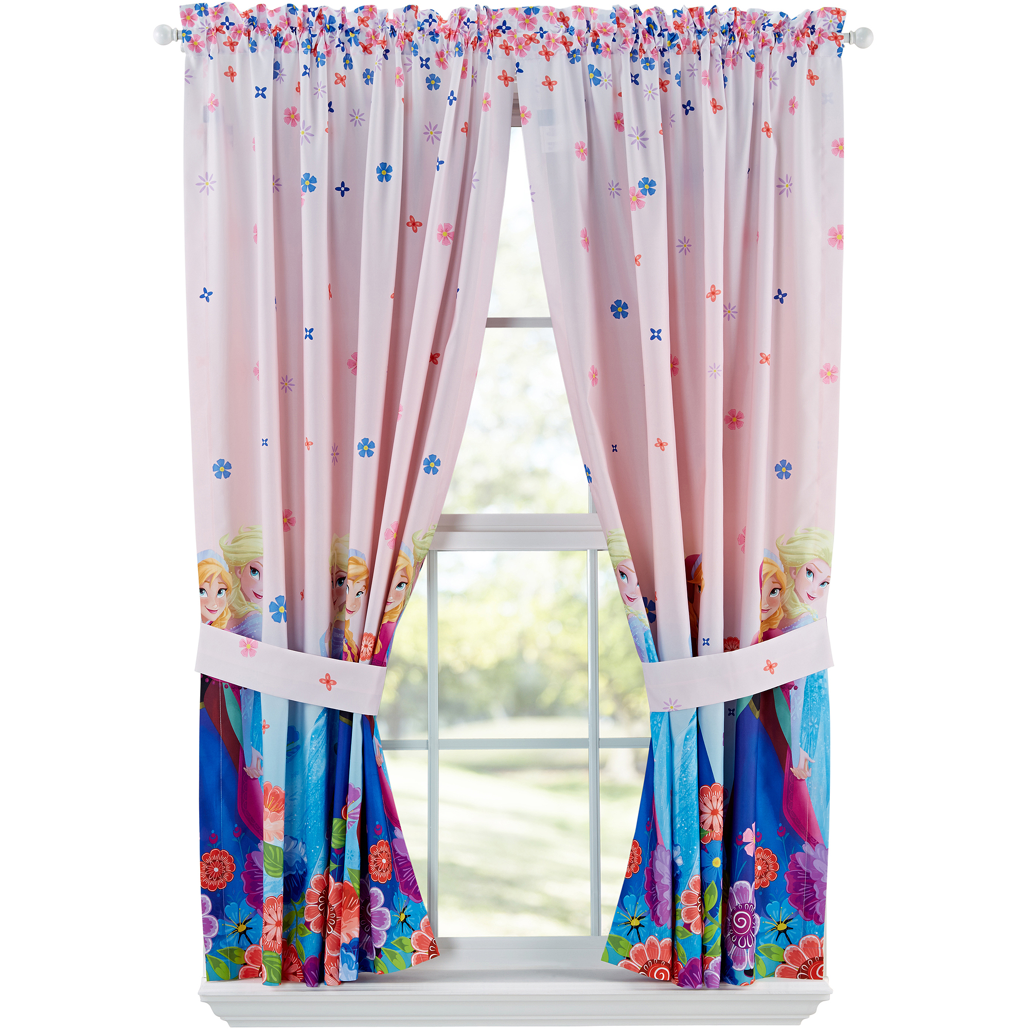 Disney's Frozen Breeze Into Spring Window Panels, Set of 2, Pink