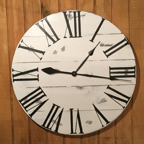 essex crafted wood products oversized 28 hockley painted wood wall clock walmart