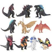 【YIWULA】10Pcs/ Set Mechagodzilla Gigan Anguirus Action Figure PVC Gift Toys