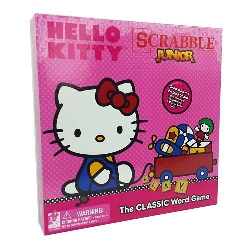 Hello Kitty Scrabble Jr. The Classic Board Game 2 Sided by