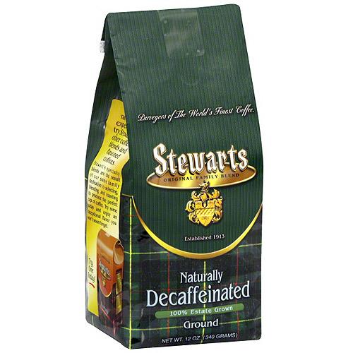 Stewarts Decaf Ground Coffee, 12 oz (Pack of 6)