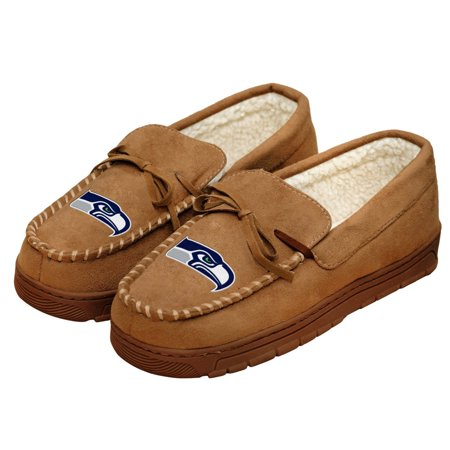 MLB Football Mens Team Logo Moccasin Slippers Shoe Pittsburgh Pirates for $<!---->