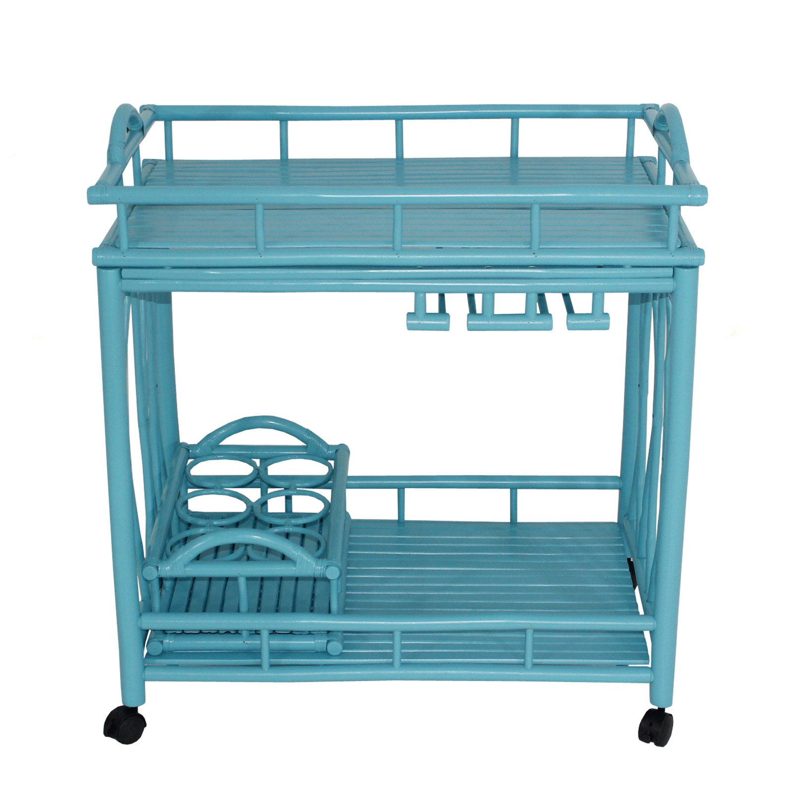 Statra Bamboo Rolling Outdoor Serving Cart by