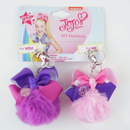 JoJo Siwa Matching Keychains for Girls Friends Sisters Clip-Ons Pink & (Ray Ban Ja Jo Pink)