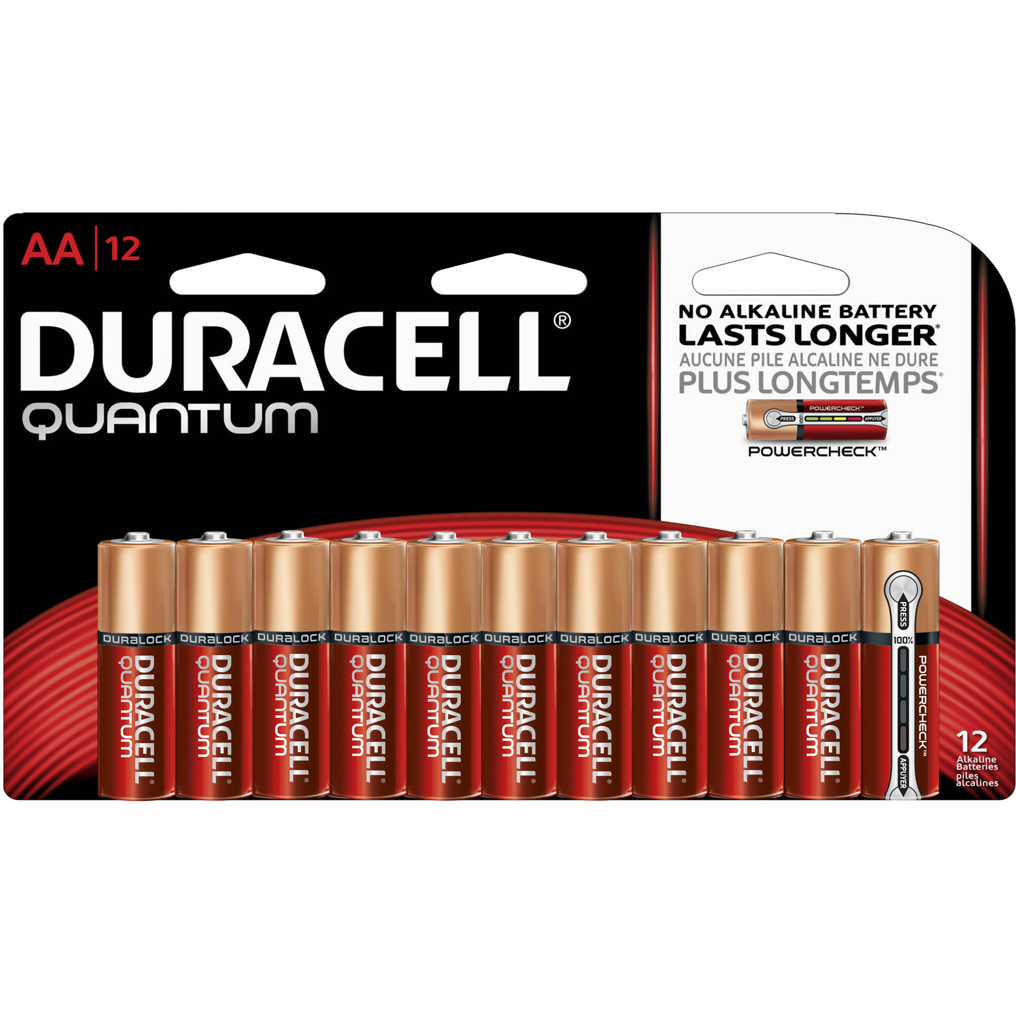 Duracell Quantum AA Alkaline Household Batteries 12ct Pack
