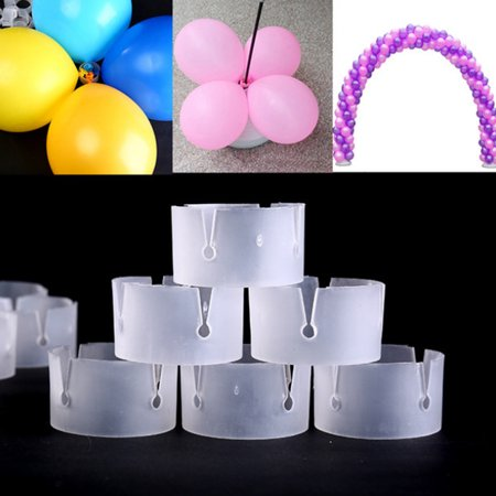 Jeobest Balloon Clips Ties for Arch - Balloon Rings Buckle - 50PCS Balloon Arche Buckle Plastic Clip Bracket Arch Balloon Connector Clip Ring Buckle for Arches Birthday Wedding Part MZ - Birthday Part