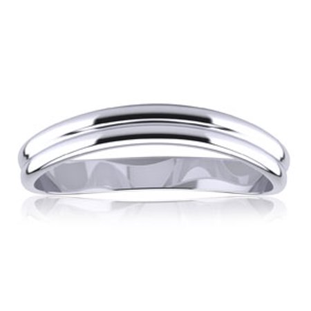 10K White Gold 3MM Comfort Fit Curved Double Wave Thumb Ring Size 12 10k Gold Weave Ring