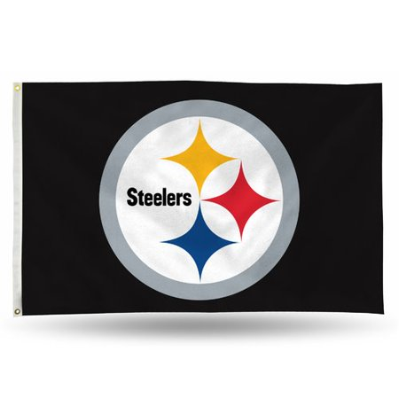 6ea39053 Rico Industries NFL 3' x 5' Banner Flag, Pittsburgh Steelers