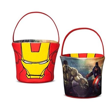Large Avengers Iron Man Reversible Plush Basket By Illumination