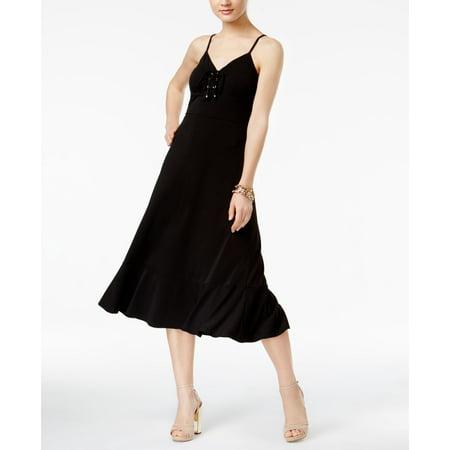 6d46242e Michael Kors - Michael Michael Kors Petite Lace-Up Maxi Dress - Walmart.com