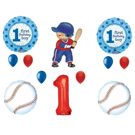 Rookie Of The Year Baseball 1st Birthday Party Balloons Decoration Supplies 1st Year Birthday