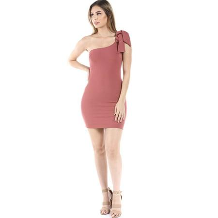 72672bf35496 Salt Tree Women's Textured Chiffon Shoulder Tie Strapless Midi Dress
