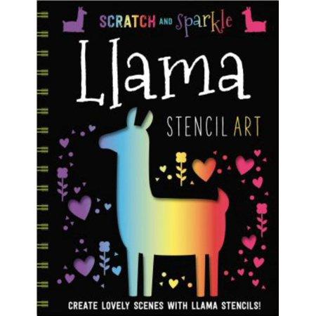 Llamas Stencil Art Stencil Activity Book