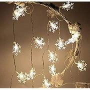 16ft / 40LED Christmas Snowflake String Light Fairy Lights for Party, Wedding, Interior, Garden, Festival Decoration (WarmWhite)