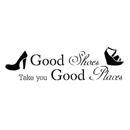 Good Shoes & Good Places Stencil by StudioR12 | Stylish Diva Word Art - Reusable Mylar Template | Painting, Chalk, Mixed Media | Use for Wall Art, DIY Home Decor - STCL736 (15