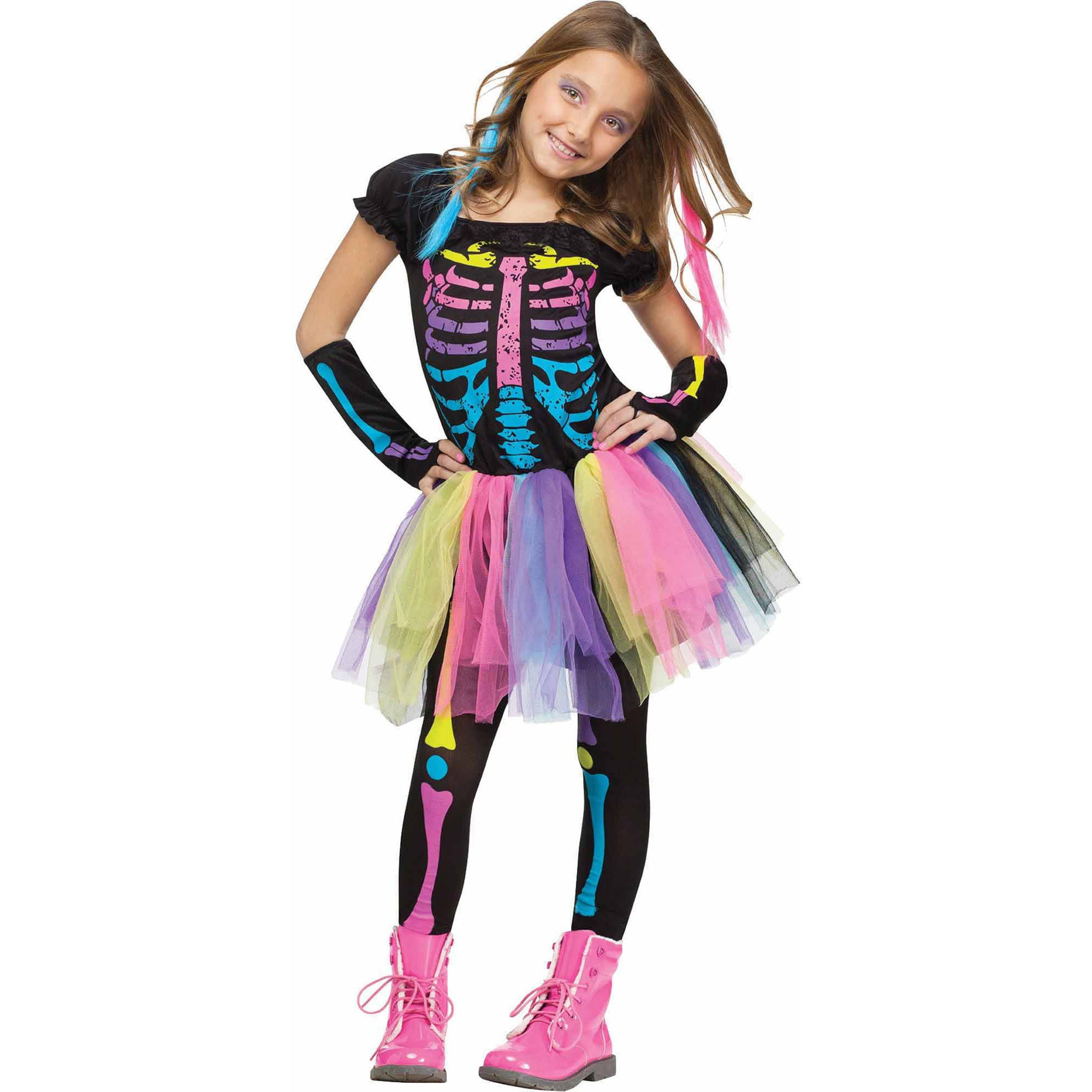 e3a13d1cc1fcb Funky Skeleton Costume & Sally Skelly Kids Costume Sc 1 St Pinterest