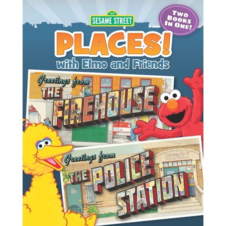 Sesame Street Places! The Firehouse and The Police Station (Sesame Street Series) - - Sesame Place Halloween Hours