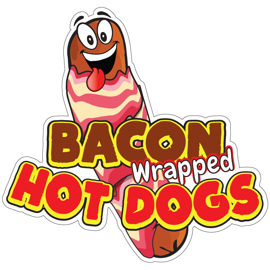 Bacon Concession Food Truck Vinyl Sticker Hot Dogs DECAL Choose Your Size