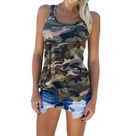 Camouflage Womens Skirt (Women Camo Sport T-shirt Vest)