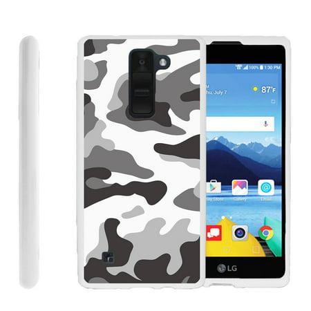 LG K8V, VS500, Flexible Case [FLEX FORCE] Slim Durable TPU Sleek Bumper with Unique Designs - Gray