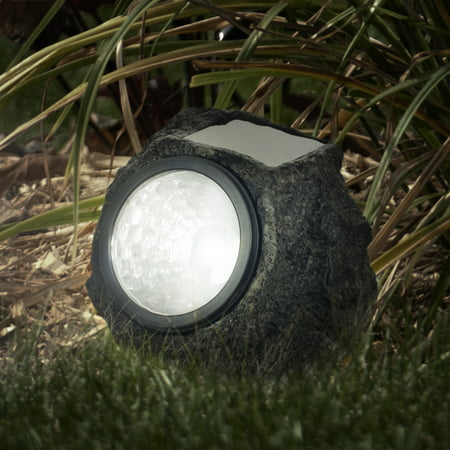 LED Solar Rock Landscaping Lights - Set of 4 by Pure Garden ()