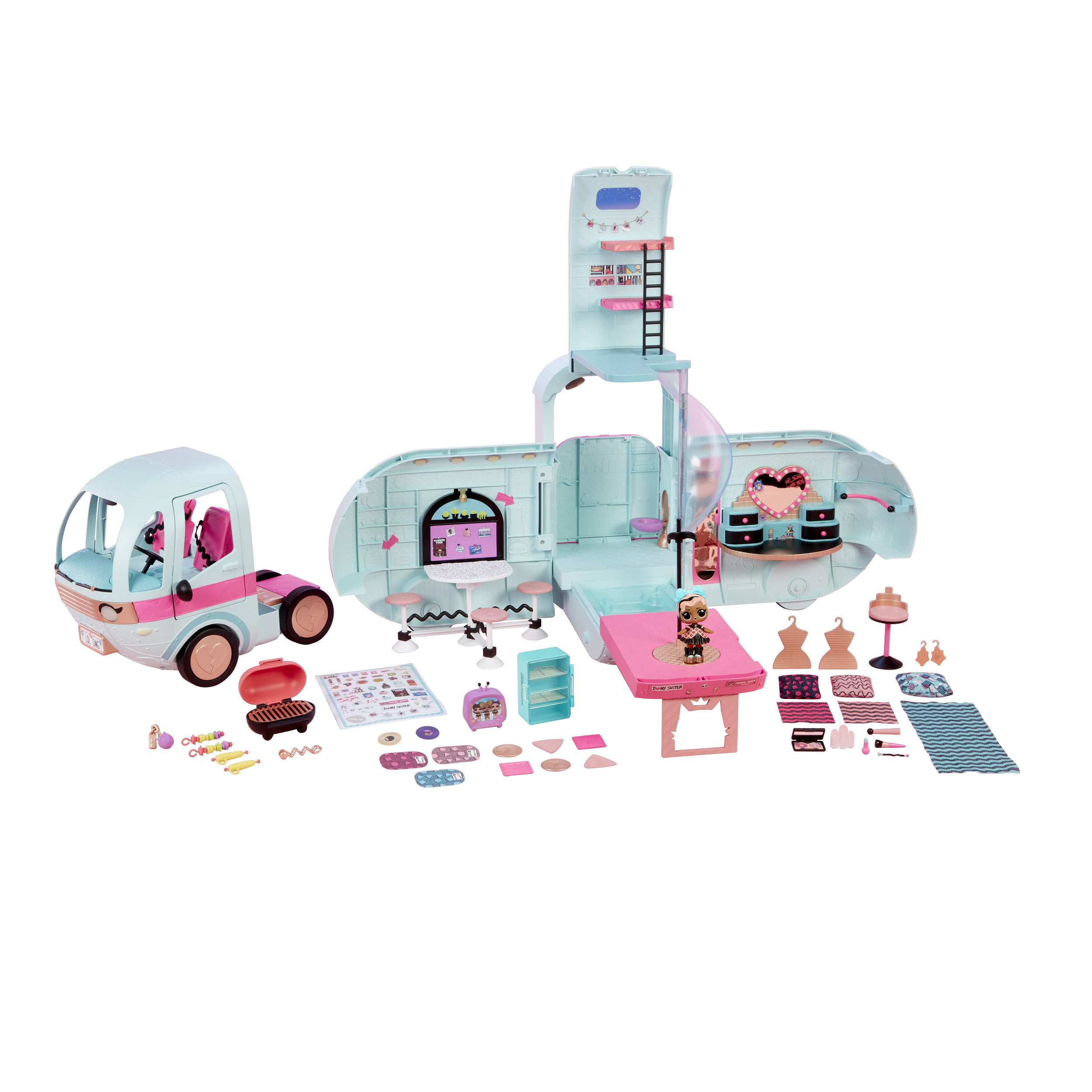 L O L Surprise 2 In 1 Glamper Fashion Camper With 55 Surprises