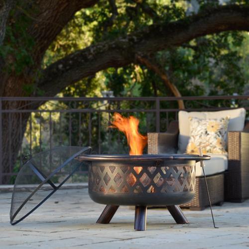Corvus Monterey 31-inch Bronze Rubbed Steel Outdoor Firepit by Overstock