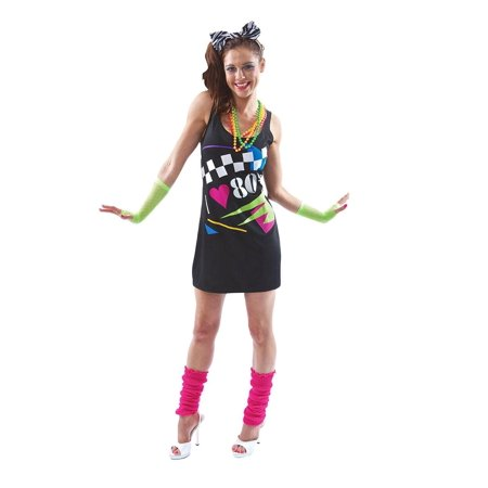 I Love the 80's Costume Dress (Womens 80's Halloween Costume Ideas)