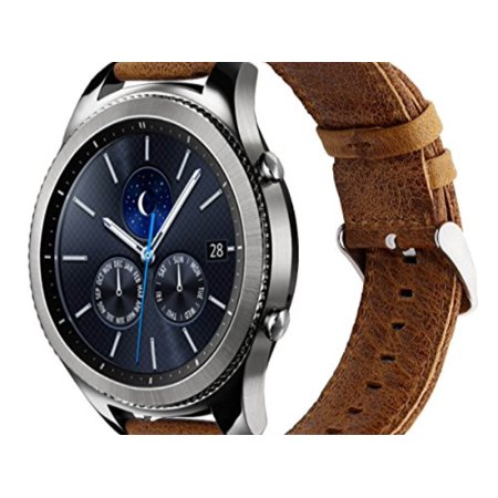 3b5bea773f7 KADES - KADES Genuine Leather Retro Cowhide Smart Watch Band with quick  release pin for Samsung Gear S3 Classic and Gear S3 Frontier (Large