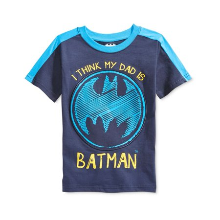 DC Comics Boys I Think My Dad IS batman Graphic T-Shirt - I Love Halloween Comics
