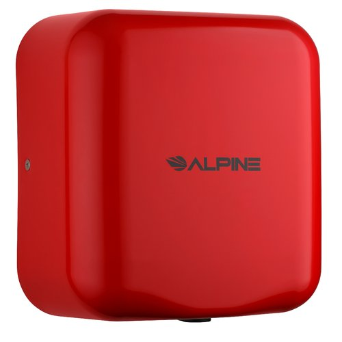 Alpine Industries Hemlock 120 Volt Hand Dryer in Red