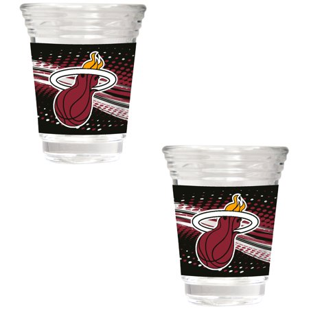 - Miami Heat 2-Piece 2oz. Party Shot Glass Set - No Size