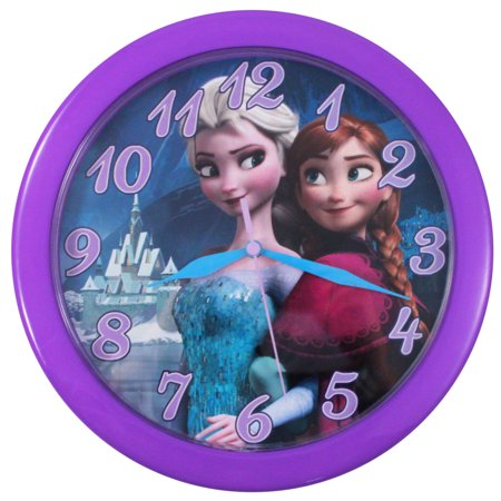 Disney Frozen Elsa and Anna Analog Wall Clock 10 inch Girls ...
