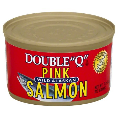 "Double ""Q"" Wild Alaskan Pink Salmon, 7.5 oz Can"