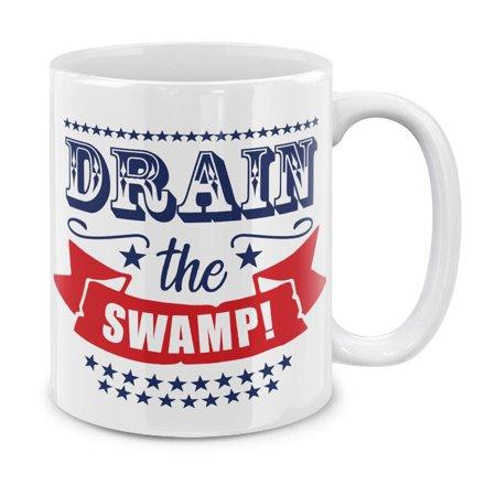 MUGBREW 11 Oz Ceramic Tea Cup Coffee Mug, Drain The
