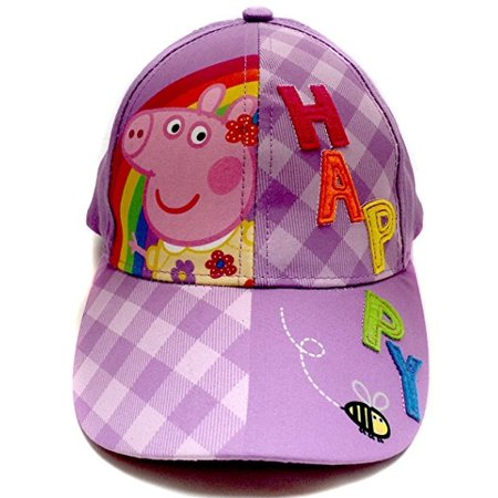 Baseball Cap - Peppa Pig - Purple Happy Youth/Kids Size Hat -