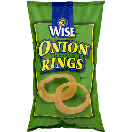 Wise Foods Crispy Onion Rings 5 oz. Bag (3 Bags)
