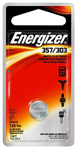 6 Pack Energizer Watch Battery 1.55 Volt 357 303 1 Each by