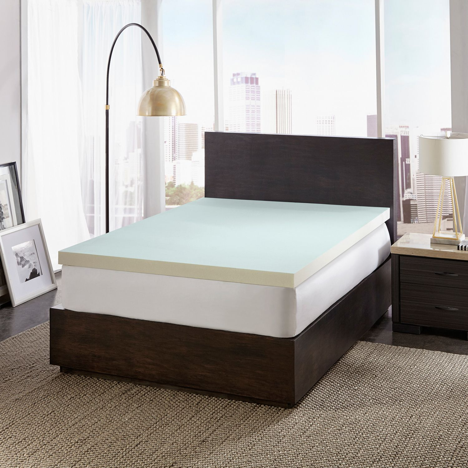 "Dreamfinity 3"" Cooling Memory Foam Mattress Topper (Full) - Walmart.com"