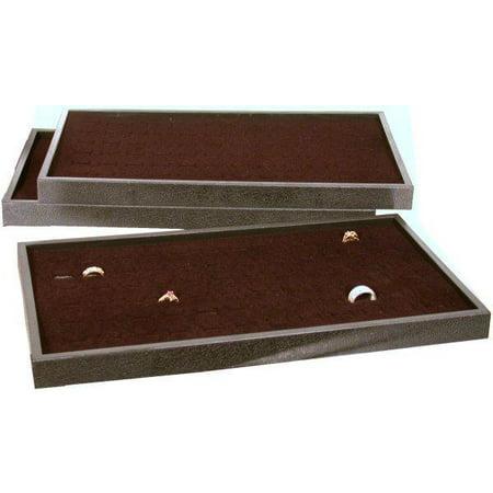 - 3 72 Slot Black Ring Display Box Jewelry Case Tray