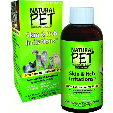 King Bio Homeopathic Natural Pet Pharmaceuticals Skin   Itch Irritation Relief Cat Supplement  4 Oz