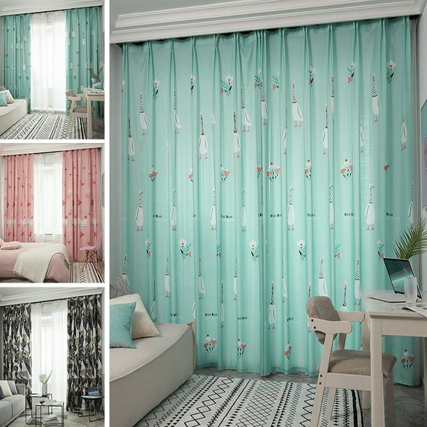 Lovely Window Curtain Thermal Blackout Curtains Hooks Curtains Bedroom Decor Walmart Com Walmart Com