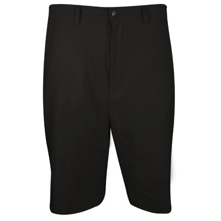 (callaway men's big & tall golf performance flat front tech shorts, caviar, 42 big)