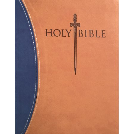 KJVER Sword Study Bible Personal Size Large Print Blue Tan Ultrasoft Indexed : King James Version Easy
